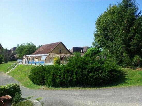 Domaine de la Rhonie: terraza