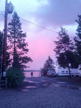 Madison Arm Resort : Auroras over the lake
