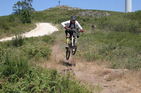 The Mountain Bike Adventure: Me getting a bit of air on the 10k shuttles