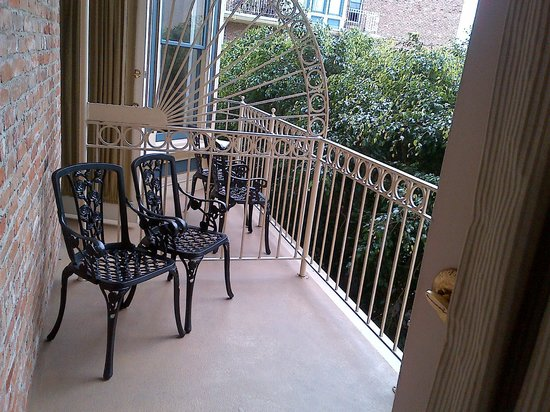 The Horton Grand Hotel: The balcony was perfect for morning coffee.