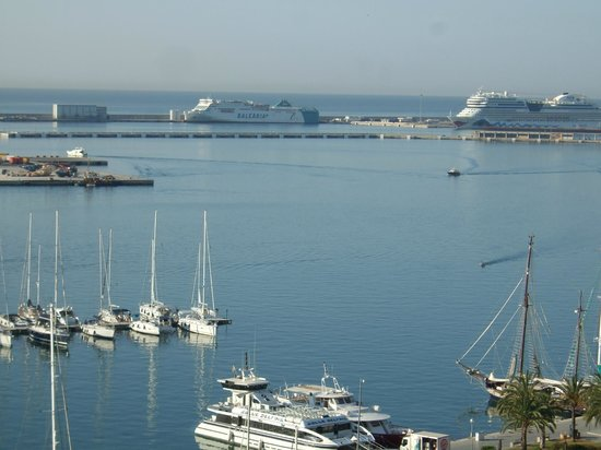 Hotel Palma Bellver Managed By Melia: view across the marina from our room