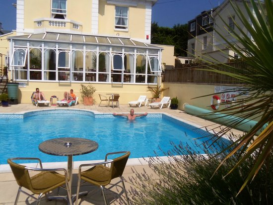 Riviera Lodge Hotel Torquay: hubby in the pool