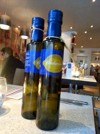 Carluccio's - Leeds: Own brand of olive oil that can be purchased within the restaurant