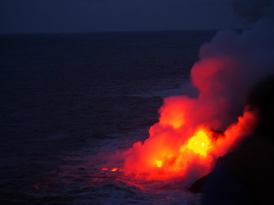 Kalapana Cultural Tours: Night falls and the colours spectacular