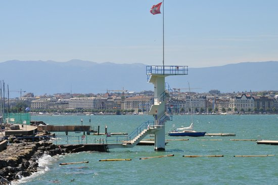 Geneve-Plage: Diving platform