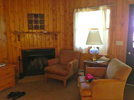 Glacier Lodge: Living room in smaller cabin (1BDR)