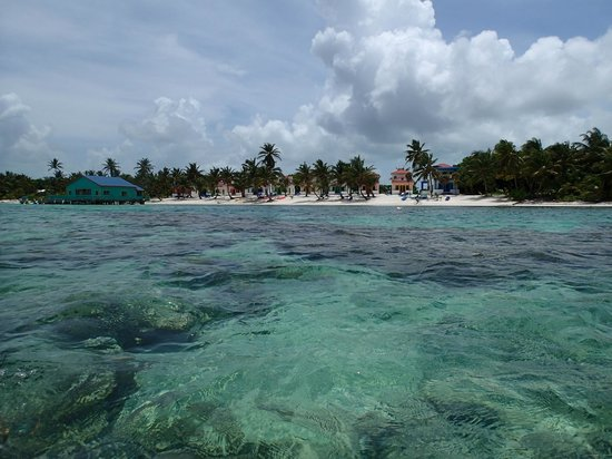 Tranquility Bay Resort : Water is shallow and clear