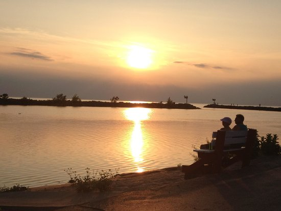 New Buffalo Public Beach: Sweet Sunset