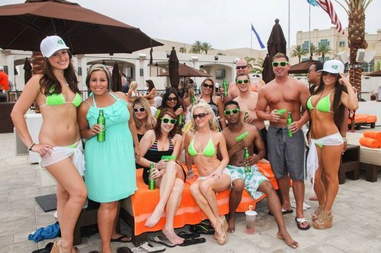 Daylight Beach Club: Bud Light Lime Girls with our Crew