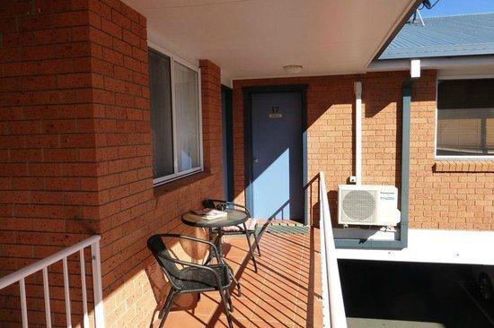 Blue Waters Motel: Guest balcony