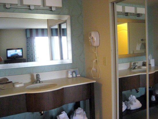 Hampton Inn & Suites by Hilton Halifax - Dartmouth: Bathroom sinks etc.