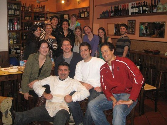 Salumeria Verdi: Pino with the Winter 2011 Stanford Overseas Program...he hosted our end of the quarter party!