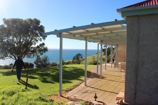 Antechamber Bay Retreats: View from rear of house