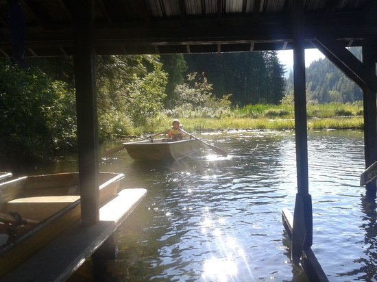 The Enchanted Forest: Row boats