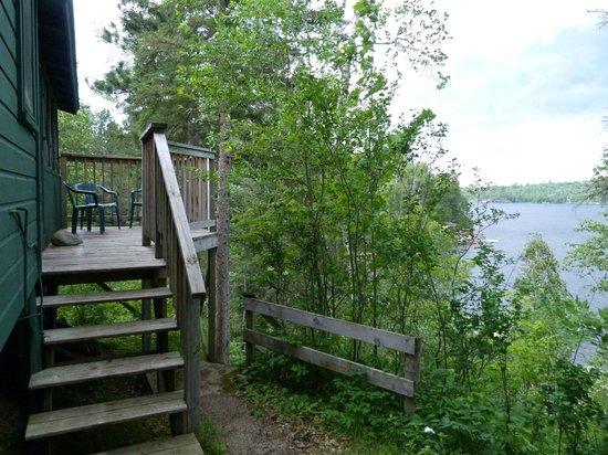 Tamarack Resort : Steps up to Birch Cabin
