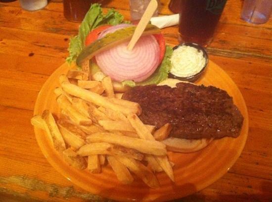 Ponderosa Cafe: bison burger mmm