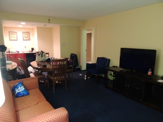 Courtyard Gulfport Beachfront: Sorry about the mess ... big suite though
