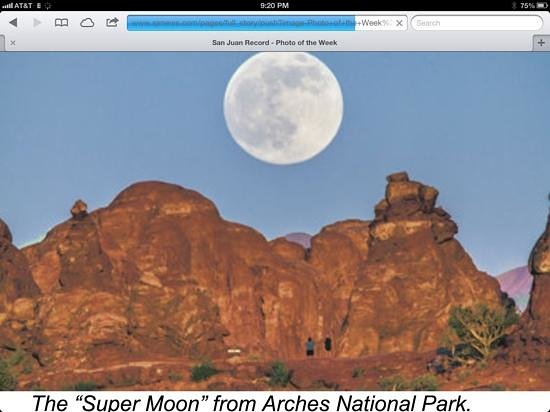 Cadillac Ranch RV Park: super moon
