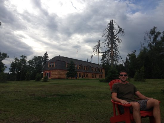 Naniboujou Lodge: Relaxing after high tea