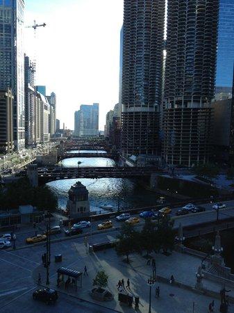 Wyndham Grand Chicago Riverfront: Vue de notre chambre au 11 ème étage