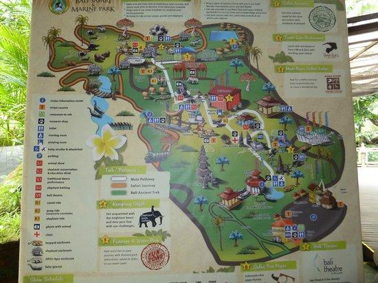 Map - Picture of Bali Safari & Marine Park, Gianyar ...
