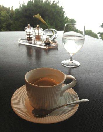 Atami Kaihoro: 朝食 お食事後の珈琲