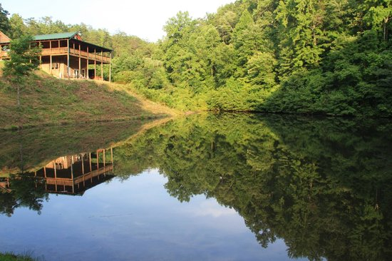 Mountain View Cabins: Cabin #11 and the fishing pond