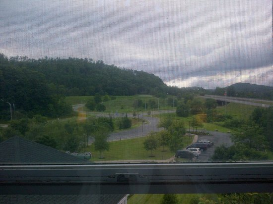 Comfort Inn & Suites Near Burke Mountain: View from room ( taken through screen in a cloudy day) its even nicer