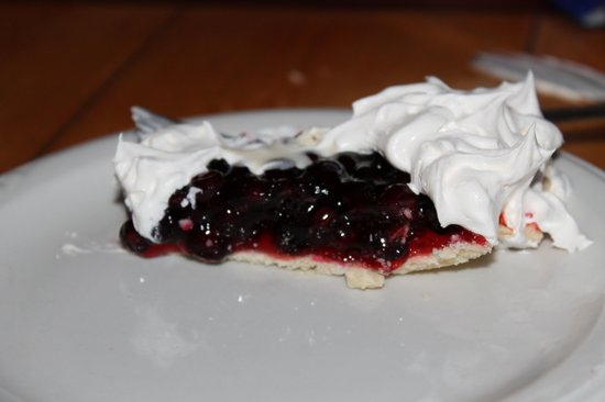 The Whistle Stop Restaurant: huckleberry pie