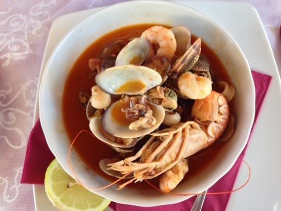 Ristorante Biennale: seafood soup