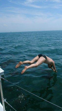 Dream'On Catamaran : Plouf !
