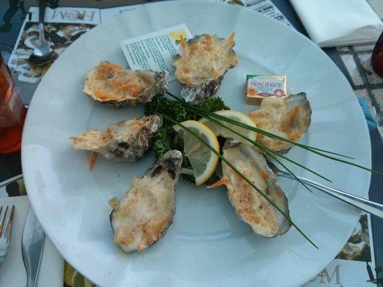 La Courtine: les huîtres gratinées
