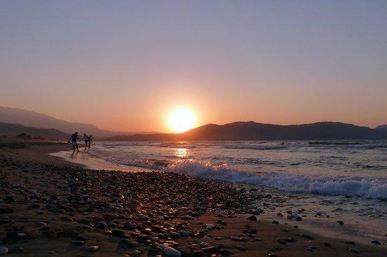 Ermioni Beach Hotel : Sonnenuntergang