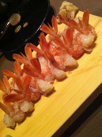 Kanji : Amaebi sashimi