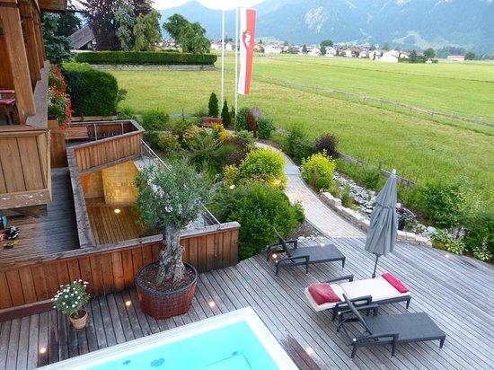 Hotel Das Rübezahl: Blick von der Dachterrasse