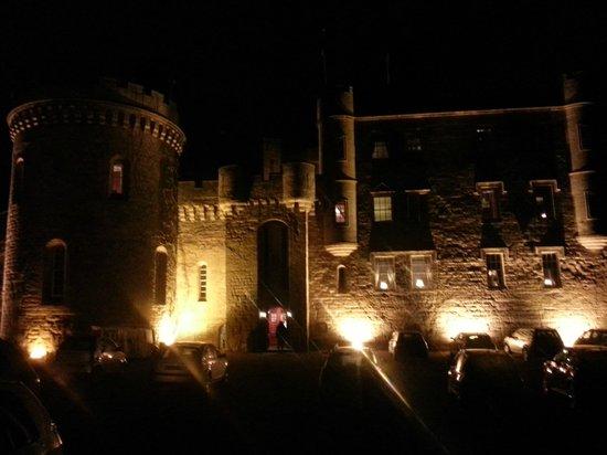 Dalhousie Castle: Castle at night