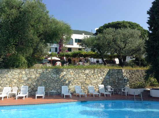 Hotel El Chico : The pool and hotel garden