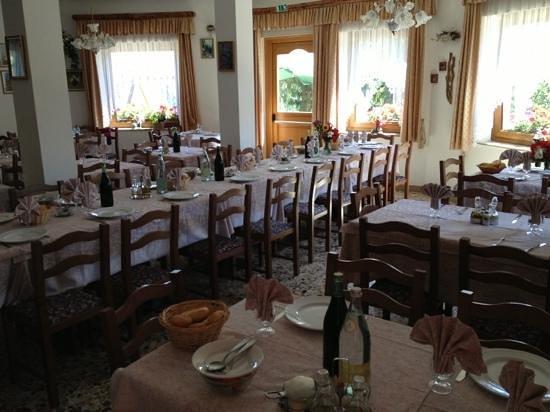 Rifugio Monte Baldo: la sala da pranzo