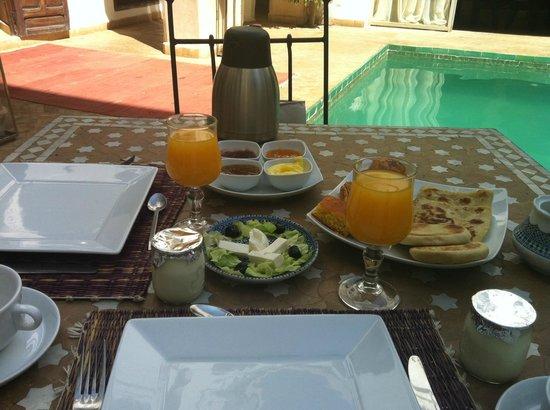 Riad Shama : Le petit dejeuner