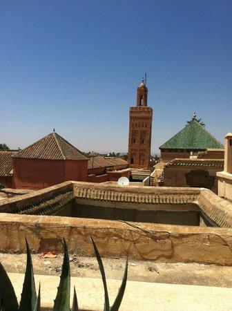 Riad Shama : Vue de la terrasse