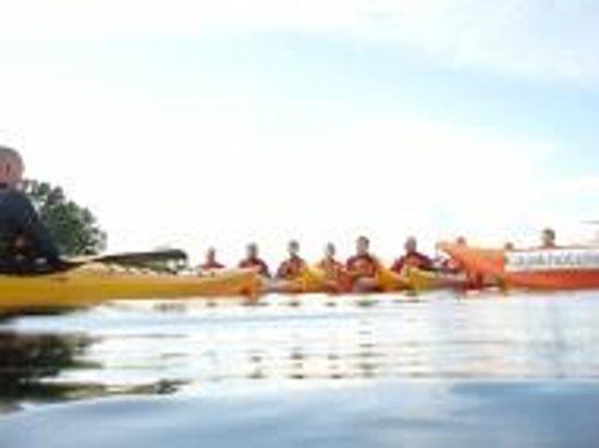 Kajakhotellet: Trainees on the water