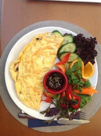 Cafe In: My mushroom omelette!