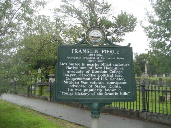 ‪President Franklin Pierce Tomb‬