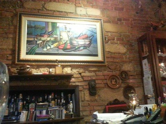 Osteria Il Bertoldo: Interiors - the bar