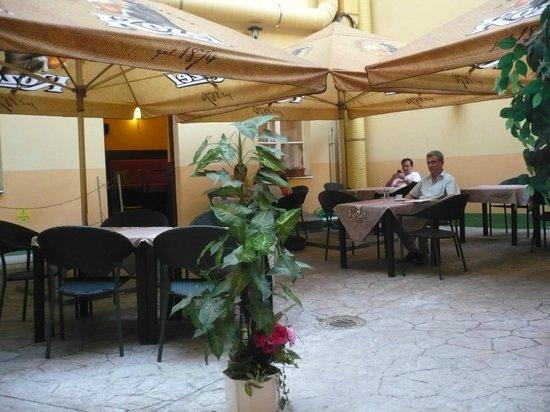 Hotel Zlata Vaha: giardino