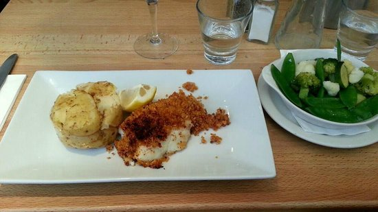 Seafood Cafe: Hake with new potatoes and seasonal vegetables