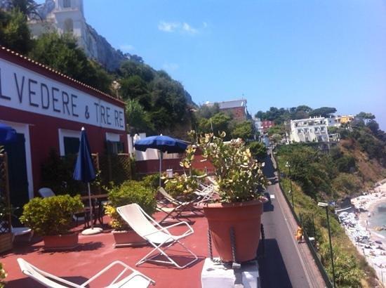 Hotel Belvedere & Tre Re: solarium con panorama