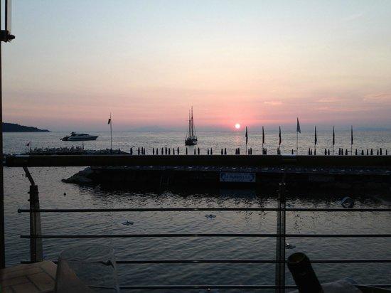 Ristorante La Marinella : Sunset from a waterside table