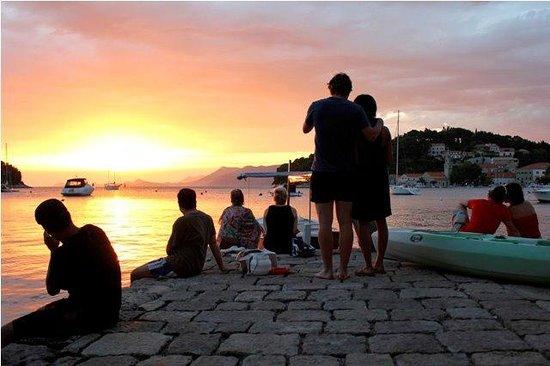 Adventure Dubrovnik: Enjoying the Sunset after the Sea Kayaking in Cavtat.