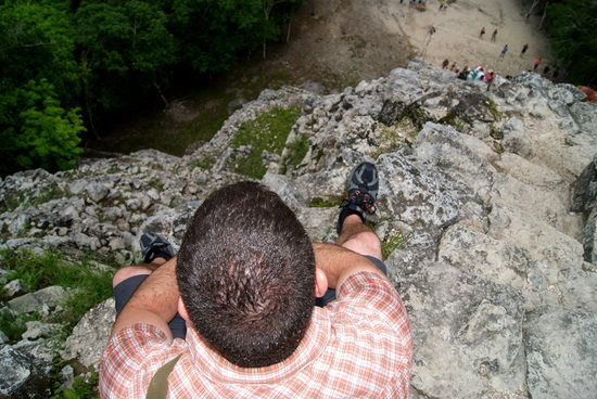 Bambu Tours: the top of coba's pyramid (nohoch mul)